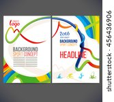 vector template design strips... | Shutterstock .eps vector #456436906