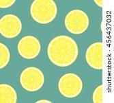 lemon background. vector...   Shutterstock .eps vector #456437032
