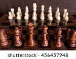 chess photographed on a... | Shutterstock . vector #456457948