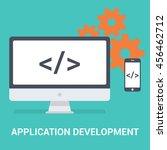 application development concept....