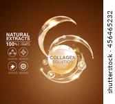 collagen serum and vitamin... | Shutterstock .eps vector #456465232