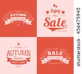 simple autumn backdrops with... | Shutterstock .eps vector #456475945