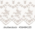 seamless beige vector lace... | Shutterstock .eps vector #456484135