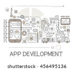 app development process... | Shutterstock .eps vector #456495136