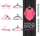 fashion shop logo   sweet ping... | Shutterstock .eps vector #456495226