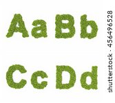 alphabet in tree and grass in... | Shutterstock . vector #456496528