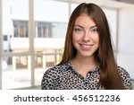 woman smiling with perfect smile | Shutterstock . vector #456512236