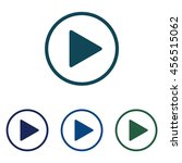 play button icon illustration.... | Shutterstock . vector #456515062