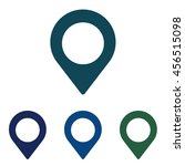 map marker icon. geotargeting... | Shutterstock . vector #456515098