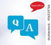 question answer icon. q a sign... | Shutterstock .eps vector #456519766