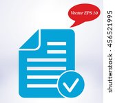 document  with ok  icon.   Shutterstock .eps vector #456521995