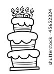 birthday cake | Shutterstock .eps vector #45652324