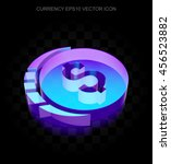 banking icon  3d neon glowing... | Shutterstock .eps vector #456523882
