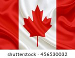 canada flag blowing in the wind | Shutterstock . vector #456530032
