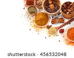 spices isolated on white | Shutterstock . vector #456532048
