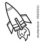 rocket cartoon | Shutterstock .eps vector #45653311
