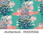 creative hand drawn abstract... | Shutterstock .eps vector #456535366