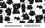 hand drawn seamless vector... | Shutterstock .eps vector #456535372