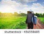 asain farmer come back to home | Shutterstock . vector #456558685