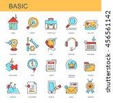 vector icons. basic | Shutterstock .eps vector #456561142