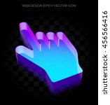 Web Design Icon  3d Neon...