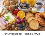 continental breakfast   food on ... | Shutterstock . vector #456587926