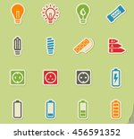 electricity simply symbol for...   Shutterstock .eps vector #456591352