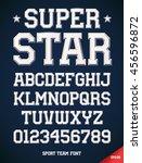 classic style sport team slab... | Shutterstock .eps vector #456596872