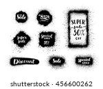 super sale banner set and... | Shutterstock .eps vector #456600262