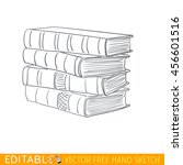 stack of books. editable vector ... | Shutterstock .eps vector #456601516