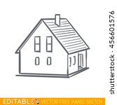 home icon. small building.... | Shutterstock .eps vector #456601576