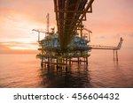 offshore oil and rig platform... | Shutterstock . vector #456604432