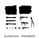 hand painted abstract... | Shutterstock .eps vector #456608635