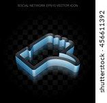 social network icon  blue 3d... | Shutterstock .eps vector #456611392