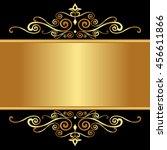 vector vintage border frame...   Shutterstock .eps vector #456611866