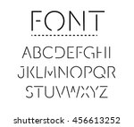 thin font. futuristic font.... | Shutterstock .eps vector #456613252