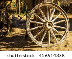 Vintage Wagon Wheel Resting...