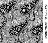 paisley   seamless ethnic... | Shutterstock .eps vector #456618592