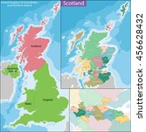 map of scotland | Shutterstock .eps vector #456628432