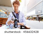 male tourist in city | Shutterstock . vector #456632428