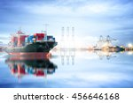logistics and transportation of ... | Shutterstock . vector #456646168