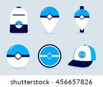 set of game icons on gray... | Shutterstock .eps vector #456657826
