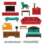 stylish simple style furniture...   Shutterstock .eps vector #456660082