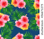 tropical pattern with... | Shutterstock . vector #456671275