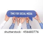 group of people holding the... | Shutterstock . vector #456683776