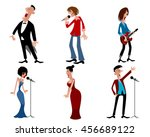vector illustration of a six... | Shutterstock .eps vector #456689122