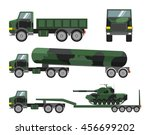 set a vector of flat military...