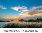 a colorful sunset of yellow ... | Shutterstock . vector #456703156