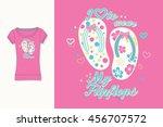 t shirt print. graphic design.... | Shutterstock .eps vector #456707572