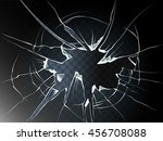 vector broken glass. isolated... | Shutterstock .eps vector #456708088